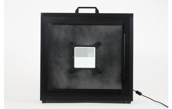 Chrome on Glass Mounting Plate for Light Box