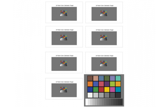 Small Color Chart - Color Test Charts - Test Charts