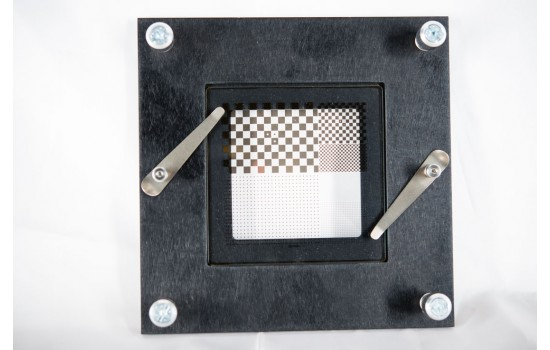 Chrome on Glass Mounting Plate