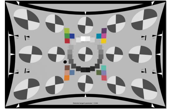 SFRreg Center Test Chart