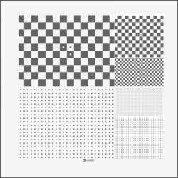 Micro Multi Slide Dot Pattern and Checkerboard chart