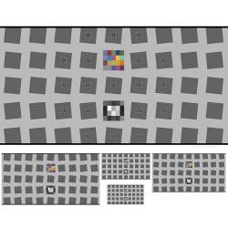 SFRplus Test Charts on Color High-Precision LVT Film